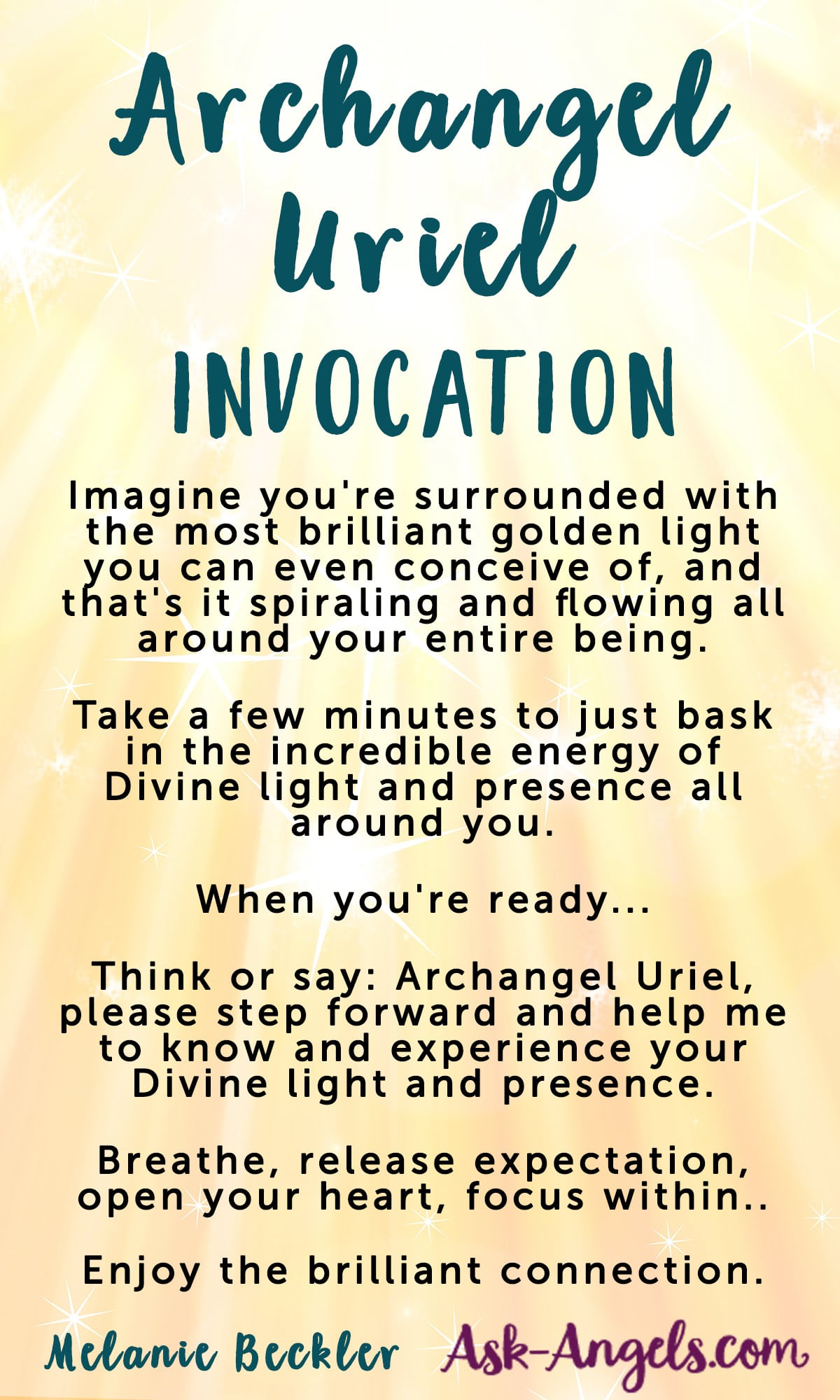 Archangel Uriel - Invoke the Angel of Wisdom, Illumination, And Light