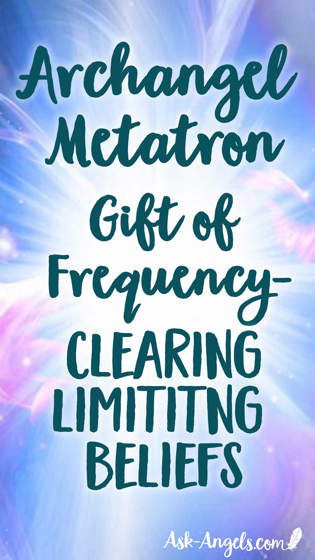 Archangel Metatron connects with a gift of frequency to support you in clearing limiting beliefs in this free angel message. #metatron