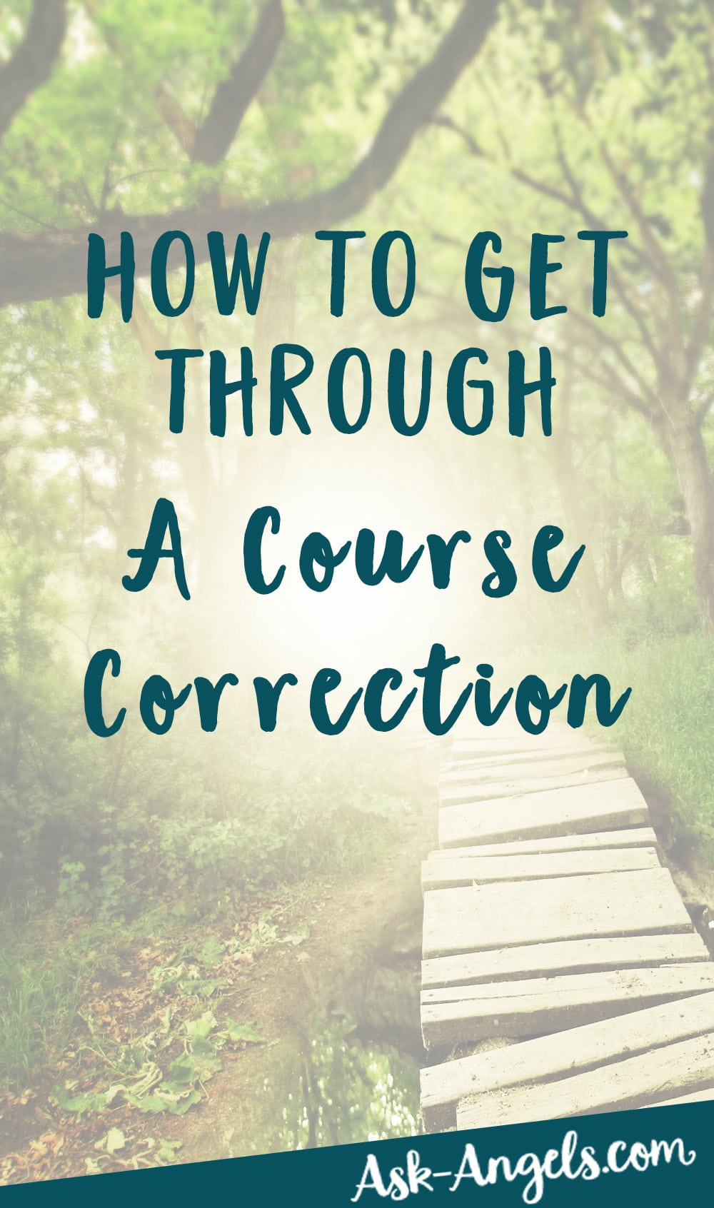 Course Correction - How to Get Through