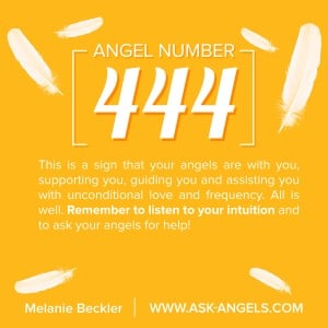 The Angel Number 444 is a sign of the presence of angels in your life! When you see 444, or really any angel number sequences, pay attention! This is one of the very common signs of angels, and seeing it brings the validation of the love and guidance of angels in your life. Check out my post to learn more about the deeper meaning! #444 #angelnumber #numerology