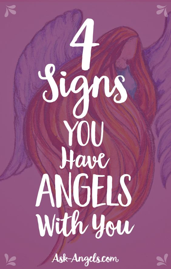 Want to know if you have angels with you? Here are the top 4 signs that yes you are in the presence of angels! #angelsigns