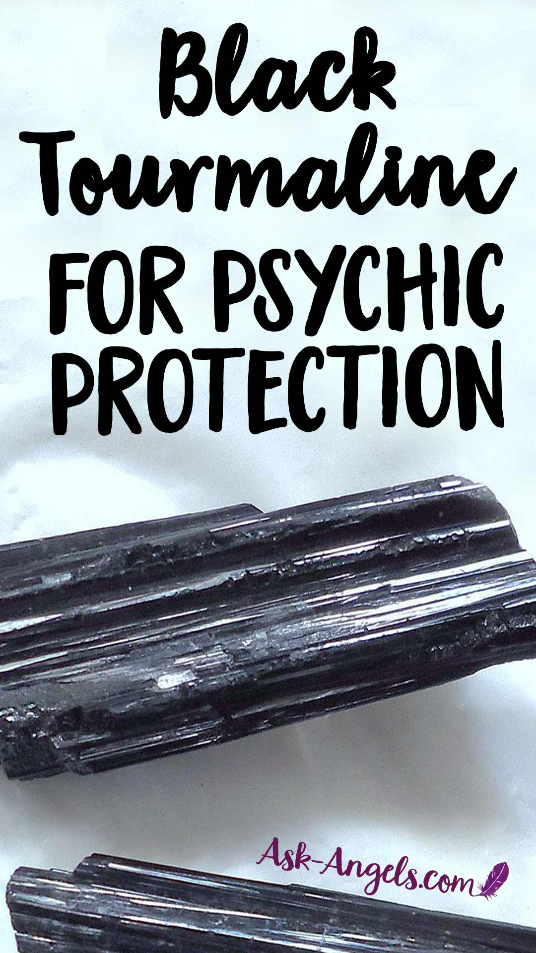 Learn how to use a Black Tourmaline crystal for powerful psychic protection.
