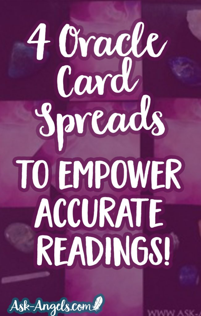 image about Printable Oracle Cards called Oracle Card Spreads