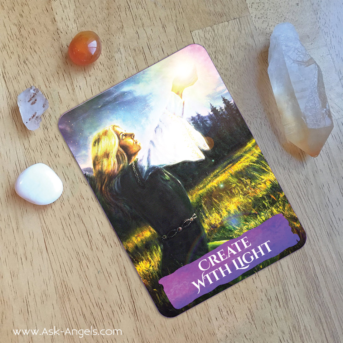Create with Light- Ascension Angel Card