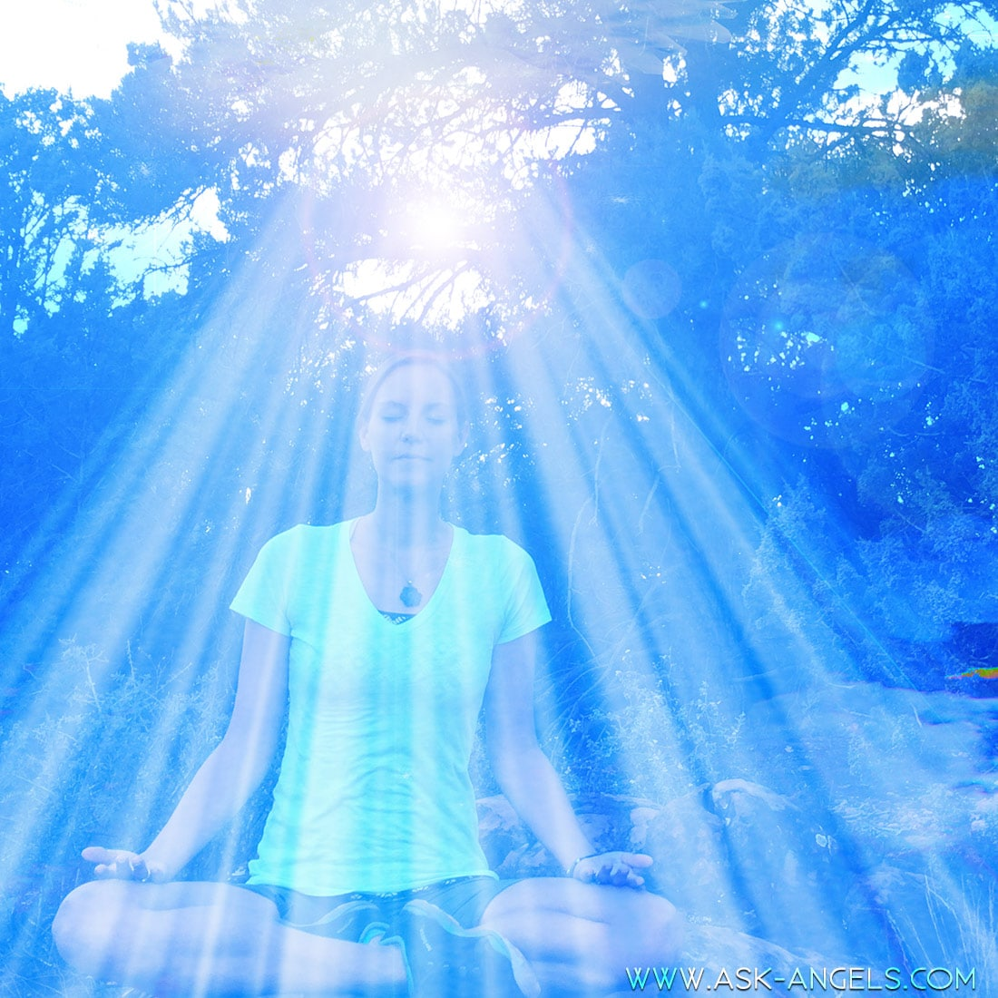 Waterfall Meditation with Divine Light