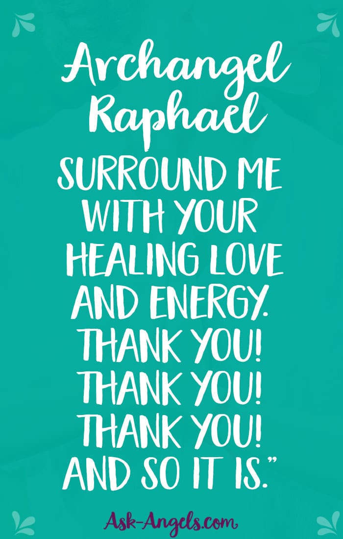 St raphael the archangel prayer for healing