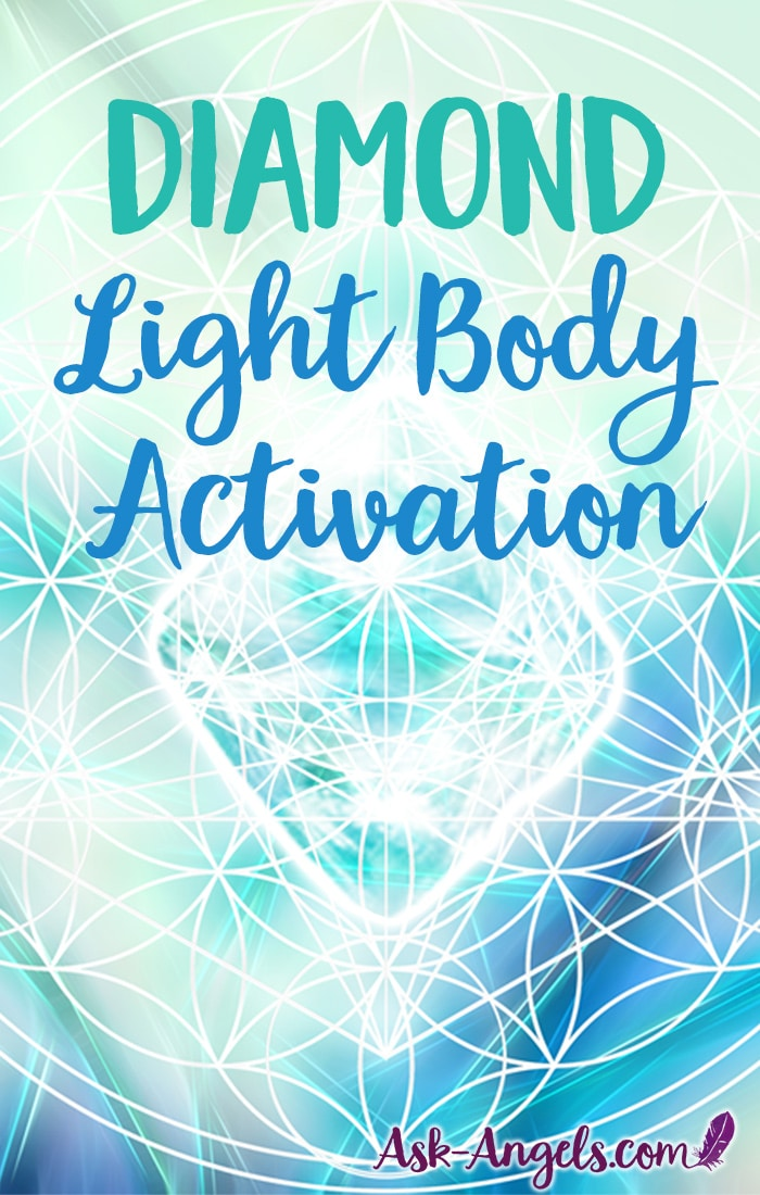 This beautiful Diamond Light Body Activation will assist you in your ascension process and awakening path. Raise your vibration and expand your consciousness by integrating new levels of light. #spiritual #meditation
