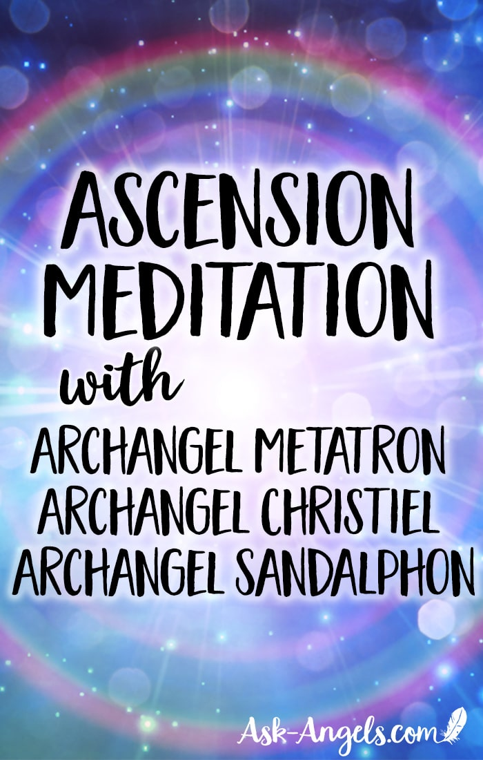 Brilliant Ascension Angel Meditation channeling with Archangel Metatron, Archangel Christiel, and Archangel Sandalphon. Lift in love to experience the bliss of the angelic realms and your highest Divine Truth. #meditate #ascend #lightandlove