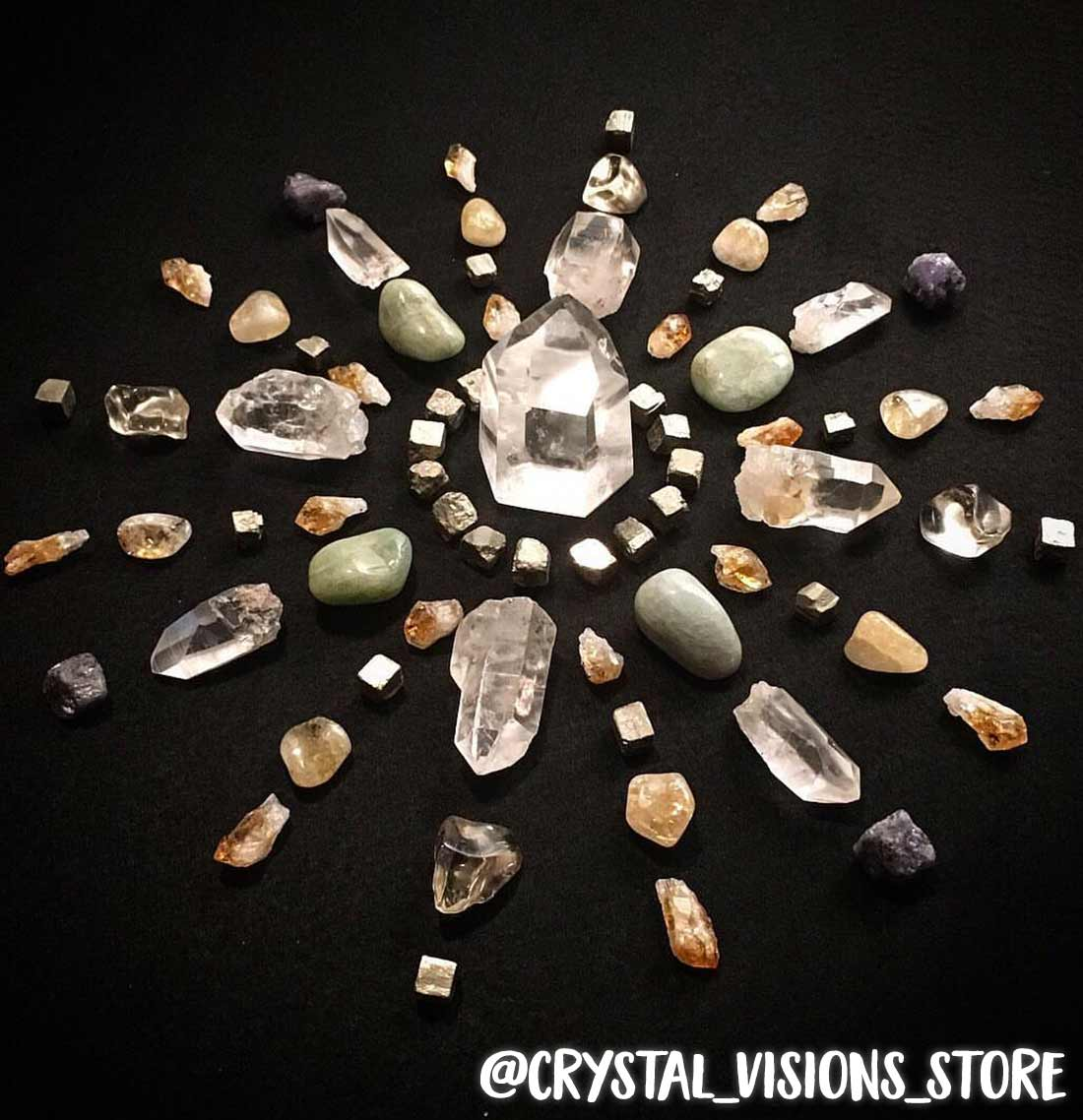 Beautiful crystal grid by @crystal_visions_store