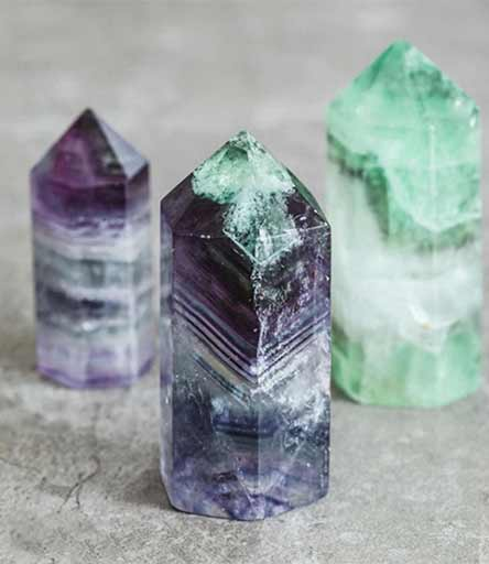 "Fluorite is sometimes called ""the Genius Stone"" because it brings mental clarity and supports both hemispheres of your brain in working together harmoniously. Its a wonderful crystal for your office desk or workplace."
