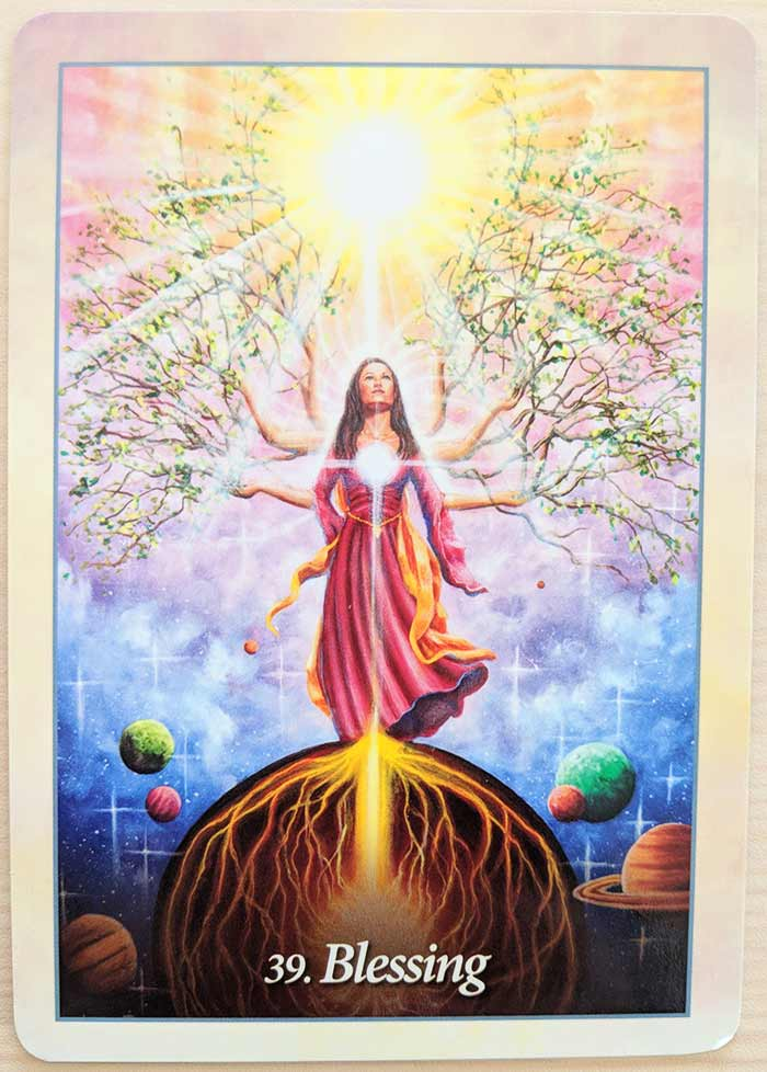 Blessing Angel Card from the Oracle of the Angels... Read the full review of this deck here.