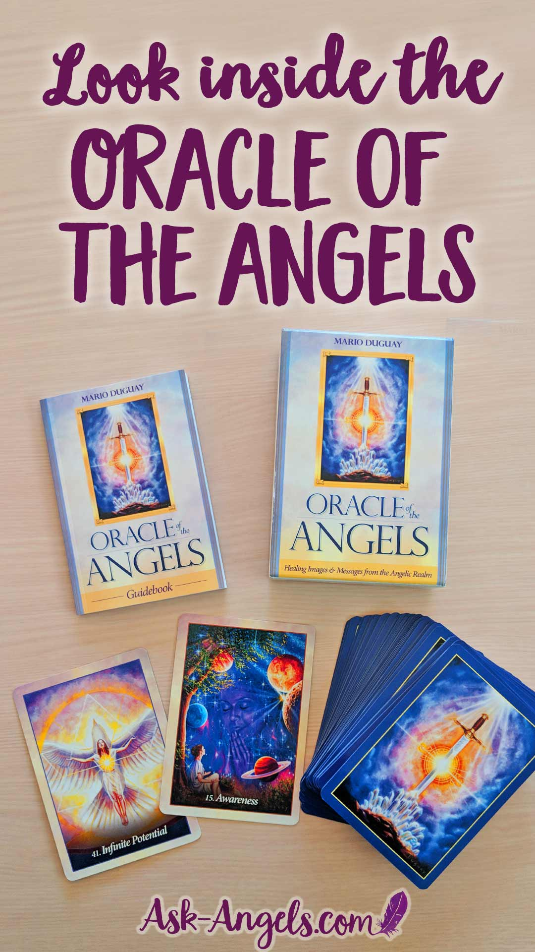 Look inside The Oracle Of The Angels Oracle Cards