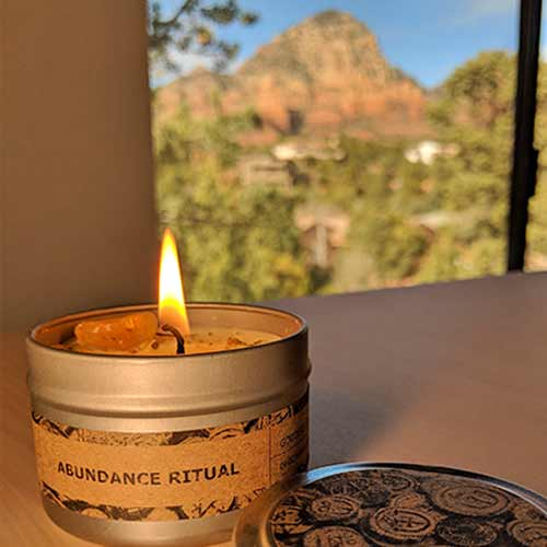 Abundance Ritual Candle in the Goddess Provisions Abundance Box