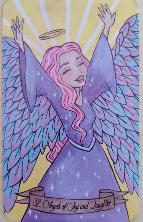 Angel of Celebration from the Intuitive Beauty Angel Deck