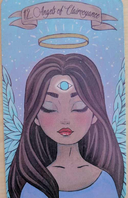 Angel of Clairvoyance from the Intuitive Beauty Angel Deck