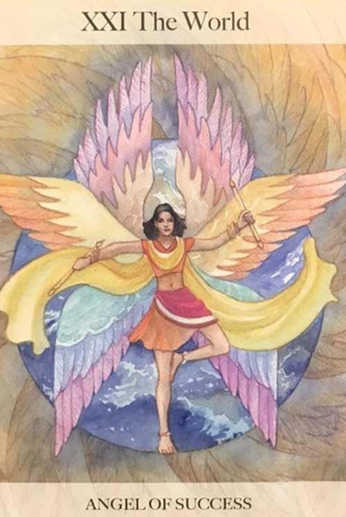 The World Card from the Angel Tarot