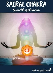 The sacral chakra is ruled by the water element and is related to fluidity in relationships as well as the flow of creativity and life force energy through you.