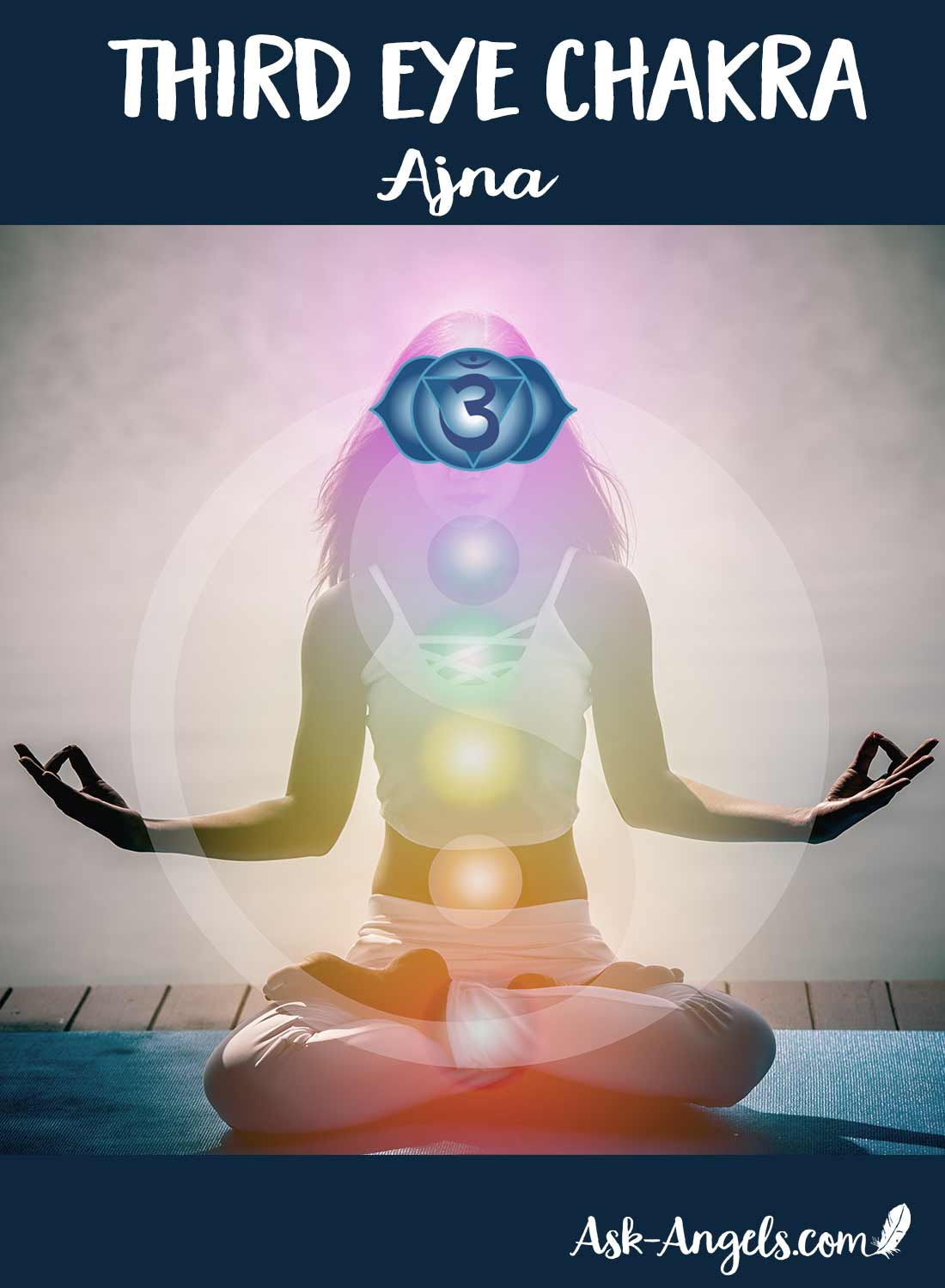The third eye chakra connects you to the higher realms of intuition. It is a key anchor point for your Divine I Am presence along with an anchor point for etheric life force energy.